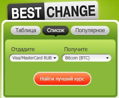 Покупка криптовалюты наBestChange— инструкция